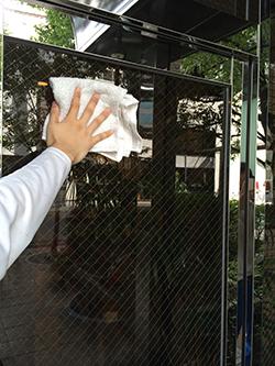 ガラス清掃の流れステップ3