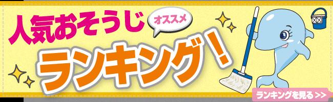 人気ハウスクリーニングランキング大阪(お掃除ランキング)
