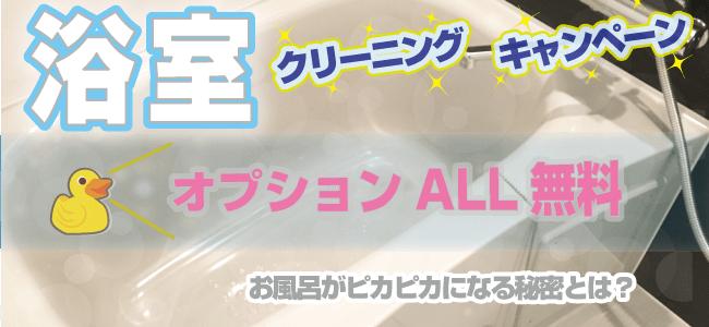 ハウスクリーニングキャンペーン|浴室_オプションALL無料